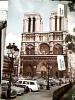 FRANCE PARIS  NOTRE DAME AUTO CAR VB1966 Timbre 200 De La Reunion  Lorraine DJ11570 - Notre Dame De Paris