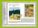 """(Faciale = 3.96 €) Feuillet CEF 1° Jour N° 1770S (en Soie) """" Les Jardins De La Fontaine à Nimes """" N° YT BF 84 ( 2005 ). - FDC"""