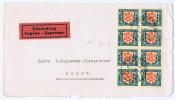 Switserland: Pro Juventute 1928, 10 C, M 230, SBK J46 In Achtblock  Geneve Eilsendung: Nur Vorderseite !! - Poststempel