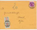 Switserland:  1937 Front Side Of Letter Zürich To St. Gallen With 10c Rotlila + 2 X 10 C Portomarken - Poststempel