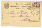 Switserland:  1894 Carte Postale (IX94) From Basel -> Haltingen, Mit Zusatzfrankatur - Postwaardestukken