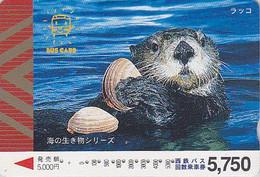 Carte Prépayée Japon - ANIMAL - LOUTRE &  COQUILLAGE - OTTER & SHELL Japan Prepaid Bus Card - MUSCHEL - Nishi 161 - Non Classés