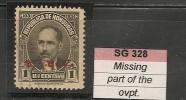 HONDURAS - 1931 Yvert # 228 - Missing Part Of The Ovpt. - Honduras