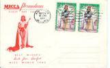 Jamaique:1964:212x2 Sur FDC:Miss Monde(Carole Joan Crawford). - Jamaique (1962-...)
