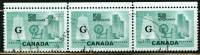 Canada 1953 50 Cent Textile Industry  Issue #O38  Horizontal Triple - Officials