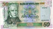 Scotland 50 Pounds 1997, 300 Year-commemorative See Scan F VF - [ 3] Scotland