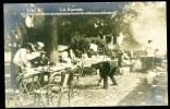 CPA. Carte / Photo.    LA GUERRE. Le Jardin Du Maire De Vise Transformé En Réfectoire Allemand. - Guerra 1914-18