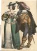 Chromo Folklore Klederdracht Holland Koppel   (  Anno 1630 ) - Découpis