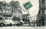 N°15072 -cpa Troyes -le Café Français Et La Rue De La République- - Cafés