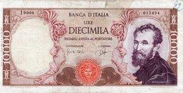 10000 LIRE MICHELANGELO DECR 3 LUGLIO 1962 See Scan - [ 2] 1946-… : Républic