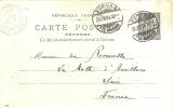 Suisse - Zurich Cachet Sur Entier Postal Français 10c Noir En  1904 - Postmark Collection