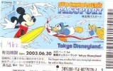 Disney Passeport Entreecard JAPON * TOKYO DISNEYLAND * STOCKHOLDERS  Passport (962) JAPAN * - Disney