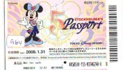 Disney Passeport Entreecard JAPON * TOKYO DISNEYLAND * STOCKHOLDERS  Passport (964) JAPAN * - Disney