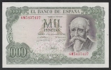 SPAGNA - 1971: BANCONOTA DA 1000 PESETAS JOSE´ ECHEGARAY - NON CIRCOLATA (FDC-UNC) - IN OTTIME CONDIZIONI. - [ 3] 1936-1975: Regime Van Franco