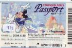 Disney Passeport Entreecard JAPON * TOKYO DISNEYLAND * STOCKHOLDERS  Passport (978) JAPAN * - Disney