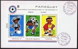 1980  Football Coupe Du Monde Argentine 78, Espagne 82  Bloc Feuillet Sc 1981 Sur FDC - Paraguay