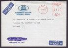 Norway Par Avion Luftpost Labels HJEMMETS BUTIKK PÅ KARL JOHAN (Blue) OSLO No. 15164 Meter Stamp Cover 1973 - Briefe U. Dokumente