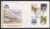 India 2000  IDEER STAG FLOWERS CAT  HERITAGE OF MANIPUR & TRIPURA 4v FDC #21336  Indien Inde - Game