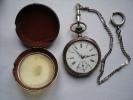 UNE ANCIENNE MONTRE A GOUSSET LE FLEURON - Relojes De Bolsillo