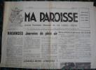 LA LANDE-PATRY ( Orne )   MA PAROISSE - Journal Mensuel 4 Pages N° 66 -  1956..... - 1950 à Nos Jours