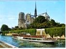 Paris Et Ses Merveilles - La Seine Et La Cathédrale Notre-Dame - Notre Dame De Paris