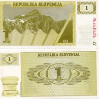 SLOVENSKA SLOVENIA SET 3 NOTES 1 & 2 & 5 Unc TOLAREV - Slovénie
