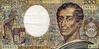 FRANCE 200 FRANCS 1992 MONTESQUIEU - 1962-1997 ''Francs''