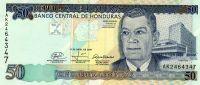 HONDURAS 50 LEMPIRAS 2008 P NEW UNC - Honduras