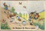 Un Bonjour De HAN-SUR-LESSE - Superbe CPA à Systeme - Thème Scoutisme - Rochefort