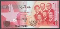 GHANA :  1 Cedi - 2010 - P37b - FDS - Ghana