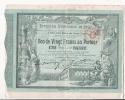 BON DE VINGT FRANCS AU PORTEUR EXPOSITION UNIVERSELLE 1900 - Shareholdings