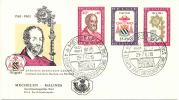 LES CADEAUX  BOTILHON - 1961 - COB N° 1188 à 1190  Sur Lettre  FDC - Belgique