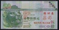 Test/training Note Aus CHINA, 50 Dollar HONG KONG, Beids. Druck, RRR, UNC - Hongkong