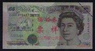 Test/training Note Aus CHINA, 5 Pounds UK, Type B, Beids. Druck, RRR, UNC - Groot-Brittannië