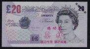 Test/training Note Aus CHINA, 20 Pounds UK, Type C, Beids. Druck, RRR, UNC - Regno Unito