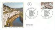 France:1974:Timbre 1807:FDC SOIE:La Vallée Du Lot.Parfait état. - Holidays & Tourism