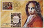 YUGOSLAVIA 1989 Ivan Gundulic Quatercentenary  On Maximum Card.  Michel 2326 - Maximum Cards