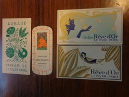 Carte Parfumee -parfum Reve D'or- L.t. Piver Paris - Perfume Cards