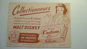 Cadum - Walt Disney - Buvards, Protège-cahiers Illustrés