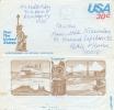 U.S.A. : 1980 : Aerogr. : VACATION,TOURISM,STATUE Of LIBERTY,TOTEM,NAVIGATION,STEAMER,BRIDGE,COAST,BEACH,PALM TREES, - Ohne Zuordnung