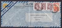 Argentina Airmail Via Aerea CAIMSA 1949 Cover To GOTHENBURG Sweden 3-Stripe Rivadavia - Luftpost