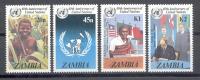 Zambia Sambia 1985 - Michel 345 - 348 ** - Zambia (1965-...)