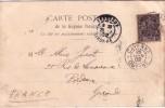 GUYANE-CAYENNE DU 26 JUIN 1902 SUR 10c TYPE GROUPE-CARTE POSTALE CRIQUE LAUSSAT - CARTE SOUPLE. - Guyane Française (1886-1949)