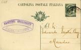 INTERO POSTALE REGNO LEONI 15 C.1907 ANN PIROSCAFO - Ganzsachen