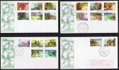 PNG 1974  Native Scenes  Definitives  Complete Set On 4 FDCs - Papua New Guinea