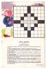 Carton Publicitaire 10X15 - Former Un Slogan, Jeu De Mots Croisés - Pub Accu Tudor, Agence Scintilla St-Etienne 42 - Advertising