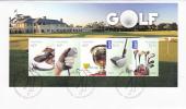 Australia-2011 Golf Souvenir Sheet FDC - FDC