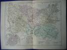 -Malte Brun-1854-Carte Géographique De L'Oise-Plan De Beauvais- - Geographical Maps