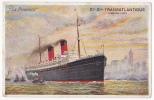 Carte Illustrée - Cie Gle Transatlantique(French Line) - La Provence - A Circulé En 1911 - Paquebots