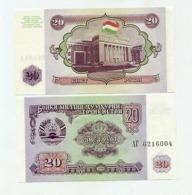 TAJIKISTAN 20 RUBLI 1994 UNC - Tadschikistan